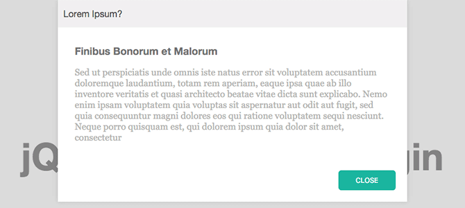 jQuery Popdown Example